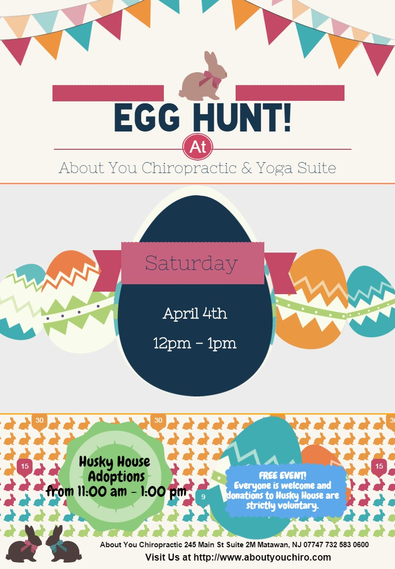 Come join us for an Easter Egg Hunt as well as meet some adoptable pups from the Husky House Rescue!