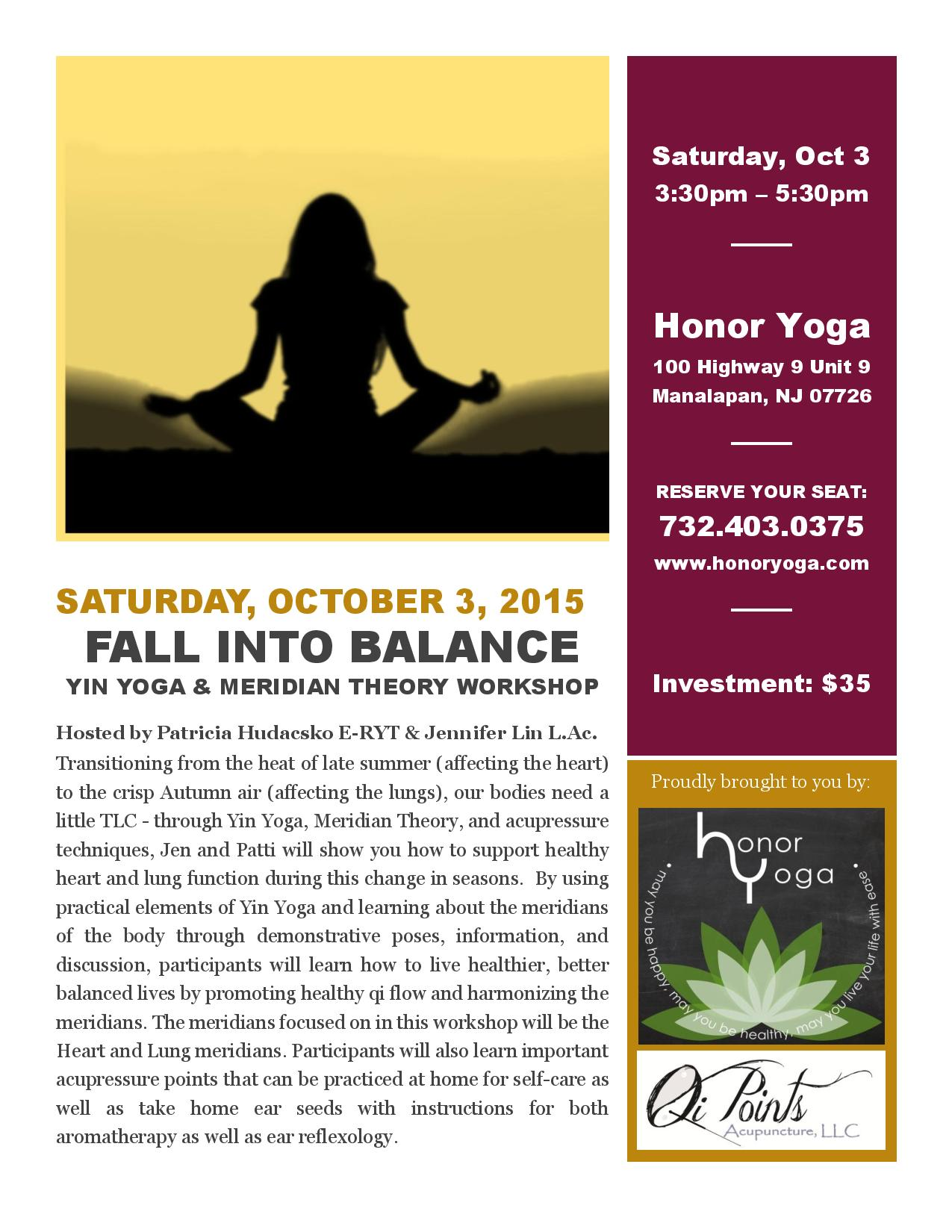 Come join us for an afternoon of yoga, merdian theory, and FUN!